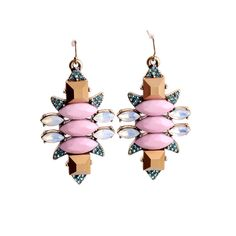 Famous Brand Jewelry 2015 Fashion New Arriver Texture Wedding Statement Pink Color Earrings #Affiliate