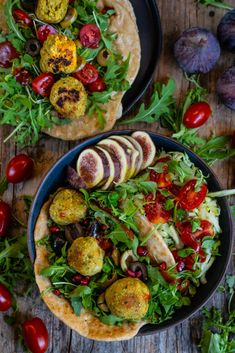 Schnelles Fladenbrot aus der Pfanne - 4 Zutaten Rezept - Mrs Flury Vegan Vegetarian, Vegetarian Recipes, Healthy Recipes, Paella, Clean Eating, Tasty, Meals, Ethnic Recipes, Food
