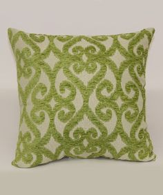 Loving this Lime Bioko Throw Pillow on #zulily! #zulilyfinds