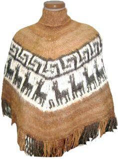 Poncho de alpaca