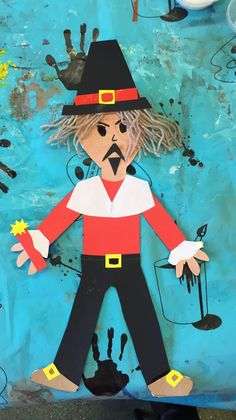 Guy Fawkes paper puppets - ArtBugs art club