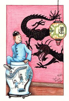Tintin: Into the Blue Lotus by *PeaceMakerGirl on deviantART