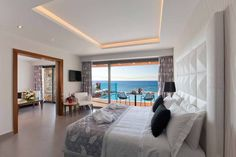 Executive Suite at Boutique 5 Hotel & Spa, Rhodes Greece. Rhodes Hotel, Greece Hotels, H Hotel, Holiday Boutique, Executive Suites, Soothing Colors, Luxury Holidays, Televisions, Private Pool