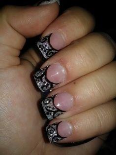 Stylish Glitter Nails