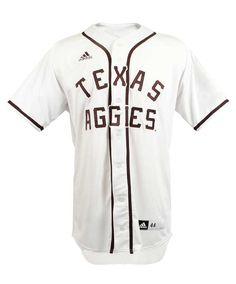 5b15931bc Texas A M Aggies Adidas Men s White Retro Baseball Jersey