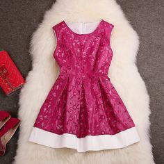 16911bf4061 Hollow Embroidery Fashion Dress SC728EB