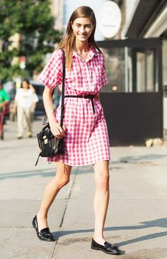10 Street Style Looks That'll Make You Want to Wear Gingham via @WhoWhatWear