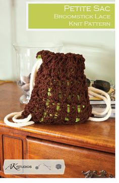 PATTERN draw string bag knit and sewn 10 by AudreyKerchnerstudio, $4.99