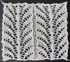 Fern leaf lace insertion knit from a Victorian era knitting pattern