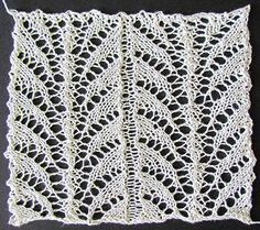 Fern leaf lace insertion knit from a Victorian era knitting pattern
