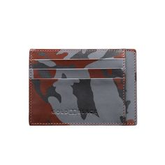 LEATHER CREDIT CARD HOLDER BILL / CAMOUFLAGE GOLDBLACK Premium Accessories