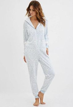 Hooded Fair Isle Plush PJ Jumpsuit from Forever Shop more products from Forever 21 on Wanelo. Cuddle Duds, Cute Fashion, Fashion Outfits, Cute Pjs, Kylie Jenner Outfits, Pajama Outfits, Lazy Day Outfits, Pyjamas, Pretty Outfits