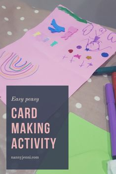 Are you looking for an easy activity to do with the children? Then take a look at our card making activity. Homemade cards are a lovely idea!