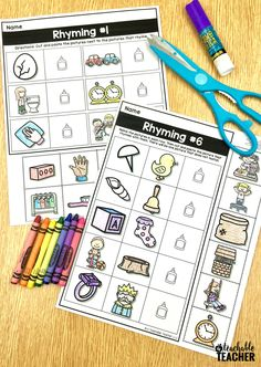 Free rhyming activities for kindergarten and first grade!