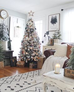 Designed by @myfarmhousegrounds Rug Cleaning, Area Rugs, Christmas Tree, White Rugs, Holiday Decor, Design, Home Decor, Teal Christmas Tree, Rugs