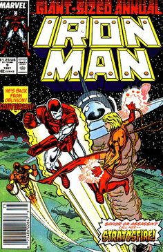 Iron Man Annual # 9 by Mark Bright & Bob Layton