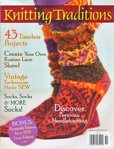 Worked in garter stich, these simple knitted wrist warmers have a delicate beaded flower motifs and a sweet lace edging. Crochet Magazine, Knitting Magazine, Knitting Patterns Free, Free Knitting, Sock Knitting, Knitting Ideas, Knitting Tutorials, Hat Patterns, Vintage Knitting