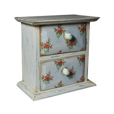 2 Drawer Jewelry Decoupage Box Shabby Chic  by WoodenStories