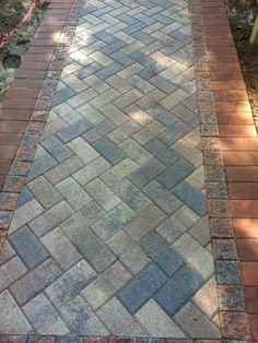 Brick Paver Walkway Close Up