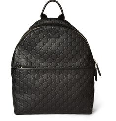 GucciEmbossed Leather Backpack|MR PORTER---http://www.luxevau.lt