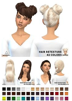 Hairstyles: Mixed bag of clay hairs from Miss Paraply Sims Love, Sims 4 Mm, Los Sims 4 Mods, Play Sims, Hair Pack, Sims 4 Cc Skin, Sims Hair, Sims Games, Sims 4 Cc Finds