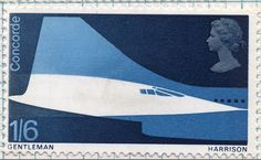 Perhaps the best stamp design ever: Concorde by David Gentleman