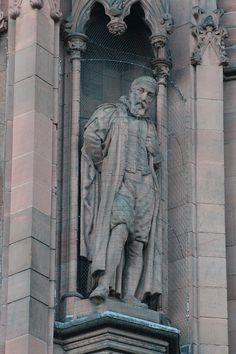 Statue of John Napier, Scottish National Portrait Gallery - John Napier - Wikipedia Fibonacci In Nature, John Napier, Nature Drawing, National Portrait Gallery, Coloring Pages, Statue, Drawings, Mathematicians, Devil