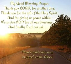 My good morning prayer