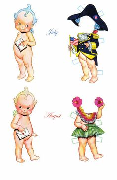 HOLIDAY KEWPIES by Tom Tierney **July**August** 7 of  7