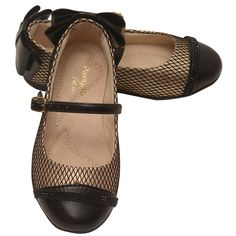 Pampili black and gold quilted shoes just for your little lady. The Mary Jane flats feature a black round toe and a bow detail at the back. A buckle strap ensures the perfect fit. Enchanting shoes will beautifully complement her outfits.