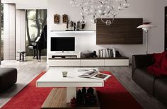Creative TV Stand Ideas: White Media Center With Creative TV Stand Ideas ~ bidycandy.com Furniture Inspiration