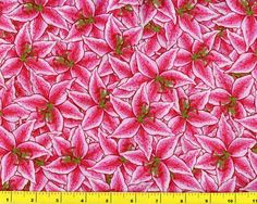 Very Hot Pink Lily Flowers By The Yard CFLRED00390