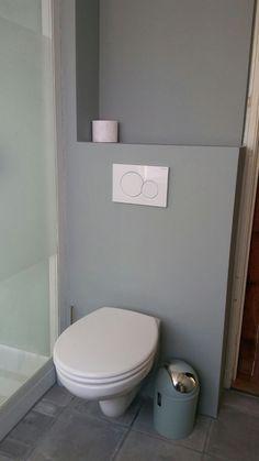 Stucwerk badkamer geschilderd