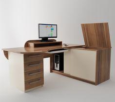 Working desk. MobiliART design studio. Woodcraft DMD furniture factory.