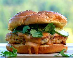 Salmon Burgers with Spicy Hoisin Mayo Recipe on Yummly