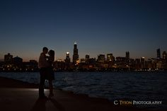 Brittany and Joe   Downtown Chicago Engagement Session