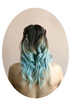 """This Photo Series Shows The Ever-Changing Hair Of Millennials #refinery29 http://www.refinery29.com/2015/09/94825/tara-bogart-millennial-hair-photo-series#slide-6 """"I noticed Nadya at a restaurant that I frequent, and saw her pretty blue hair. I wanted it to be a part of the series because her hair is so relevant to the times,"""" says Bogart...."""