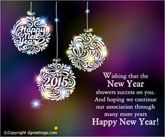 Send your business greetings and wish a happy and successful New Year ahead.