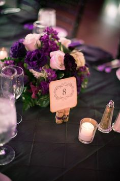 Perfection = short table centerpiece + short table number