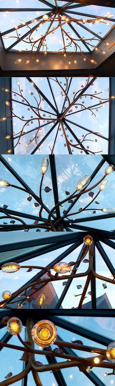 Big Lamp Hotel Ullensvang. Noruega. Where The Heart Is, Tree Branches, Art Pieces, Fair Grounds, Deco, Studio, Travel, Design, Norway