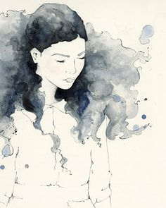 Emma Leonard is a Melbourne based illustrator who uses watercolor, gouache and ink to create delicately rendered images of fragility and ethereal femininity
