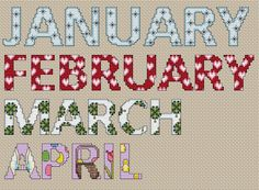 Months January - April, designed by @Esther Aduriz Aduriz Aduriz Leavitt from Crafts by Starlight.
