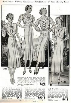 Worth's Spring & Summer 1937.  I love the vintage feel you get off this illustration it's a classic example of the fashion executed by that time, the tailored over the knee dress with over the shoulder sleeves.