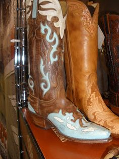 Crystal Cattle: Lucchese Turquoise Boots
