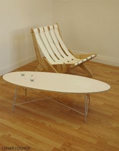 Eliptikal coffee table Eames Era Mid Century Modern Salem starburst. $350.00, via Etsy.
