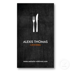 Fork and Knife Logo for Catering, Chef, Restaurant Business Card Template. This great business card design is available for customization. All text style, colors, sizes can be modified to fit your needs. Just click the image to learn more! Logo Restaurant, Restaurant Kitchen, Restaurant Design, Wood Business Cards, Bakery Business Cards, Business Card Design, Catering Logo, Catering Business, Catering Companies