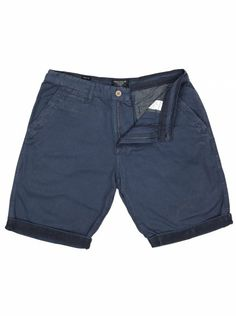 Chino shorts for men in blue. Chino Shorts, Bermuda Shorts, Navy Blue Chinos, Go Blue, Indigo, Attitude, Streetwear, Denim, Stylish