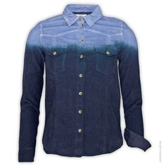 LTB  Bluse 1/1 SAMYE  Schöne Cordbluse in Dip-Dye Optik.      Knopfleiste     2 verschließbare Brusttaschen     abgesetzter Manschetten-Innenstoff     vertikaler Farbverlauf     lange Ärmel     Farbe: blau