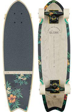 """Globe Sagano 26"""" Cruiser Skateboard Complete - grey/highbiscus - Skate Shop > Completes > Cruiser Completes"""