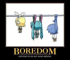 What happens when anime freaks get bored........XD